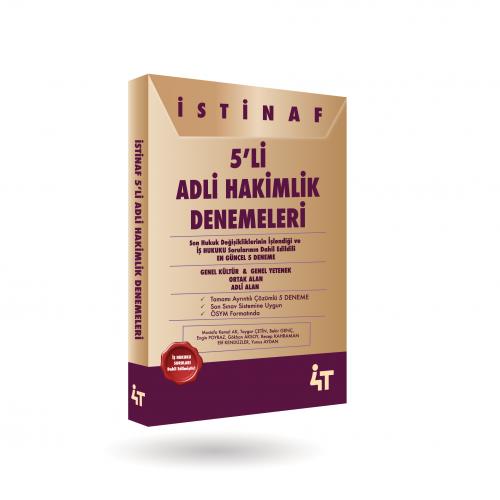 İSTİNAF 5'Lİ ADLİ HAKİMLİK  DENEMELERİ