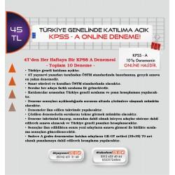 KPSS-A ONLİNE DENEME