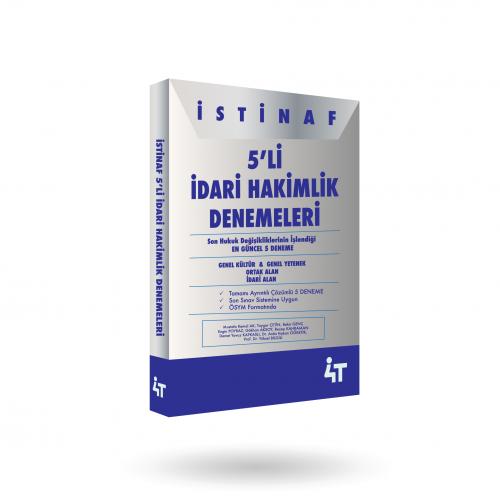 İSTİNAF 5'Lİ İDARİ HAKİMLİK  DENEMELERİ