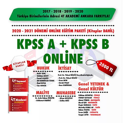 KPSS-A & KPSS-B 2020-2021 ONLİNE EĞİTİM