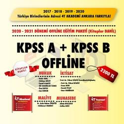 KPSS-A & KPSS-B 2020-2021 OFFLİNE EĞİTİM (KAYITLI VİDEO+KİTAP)