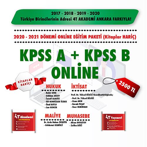 KPSS-A & KPSS-B 2020-2021 ONLİNE EĞİTİM (KİTAPLAR HARİÇ)