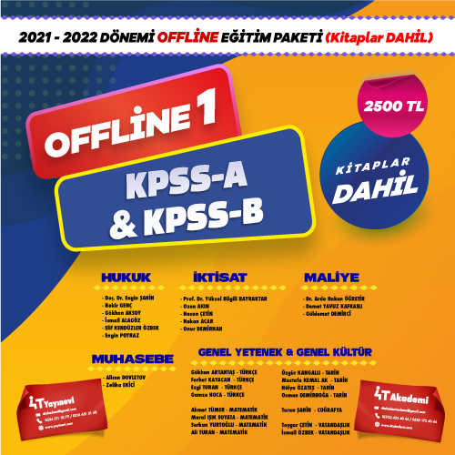 2021-2022 KPSS-A & KPSS-B 2 OFFLİNE EĞİTİM (KAYITLI VİDEO+KİTAP)