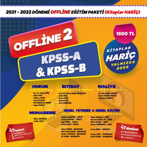 2021-2022 KPSS-A & KPSS-B 2 OFFLİNE EĞİTİM (KİTAPLAR HARİÇ)