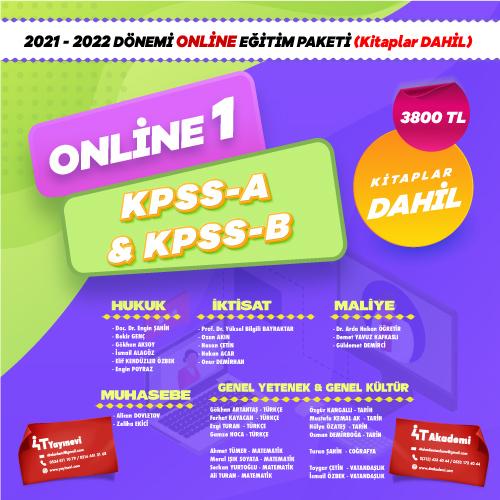 2021-2022 DÖNEMİ KPSS-A & KPSS-B ONLİNE EĞİTİM (KİTAPLAR DAHİL )