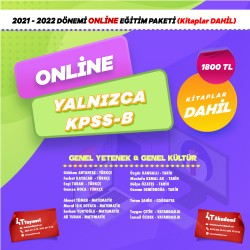 2021-2022 DÖNEMİ KPSS-B ONLİNE EĞİTİM PAKETİ  (KİTAPLAR DAHİL)
