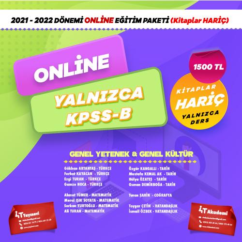 2021-2022 DÖNEMİ KPSS-B ONLİNE EĞİTİM PAKETİ  (KİTAPLAR HARİÇ)
