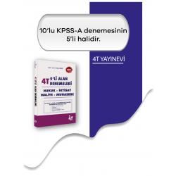 2019 4T KPSS A Grubu Tamamı Çözümlü 5'li Alan Denemeleri