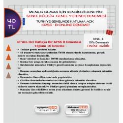 KPSS-B ONLİNE DENEME