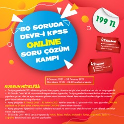 80 SORUDA DEVR-İ KPSS  ONLİNE SORU ÇÖZÜM KAMPI