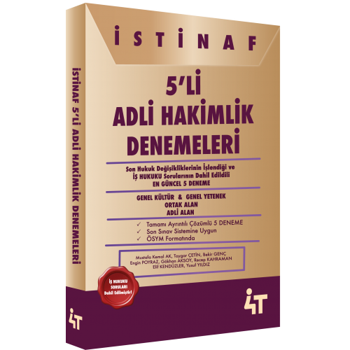 İSTİNAF 5'L İADLİ HAKİMLİK  DENEMELERİ
