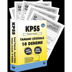 2019 KPSS-B TAMAMI ÇÖZÜMLÜ 10 DENEME