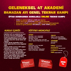 4T AKADEMİ GENEL TEKRAR KAMPI 1 (RAMAZAN AYI KAMPI)