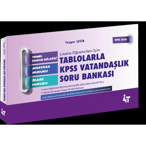 TABLOLARLA KPSS VATANDAŞLIK SORU BANKASI